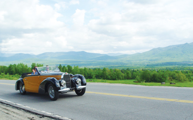 Bugatti Type 57 on New England 1000