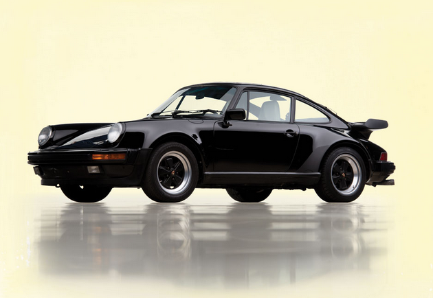 Black 1989 Porsche 911 Turbo