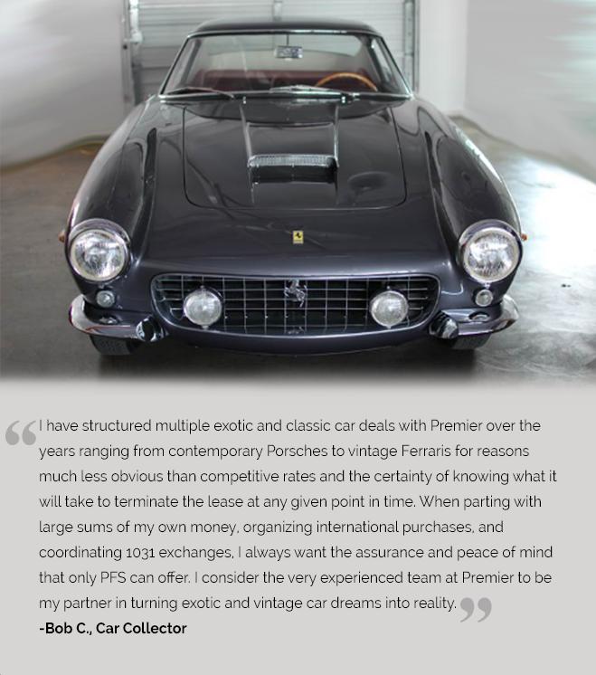 Cohen's Testimonial on 1962 Ferrari SWB