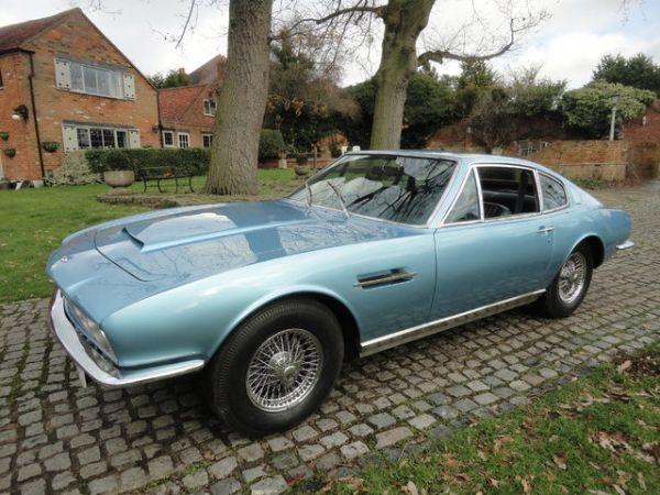 Blue 1970 Aston Martin DBS