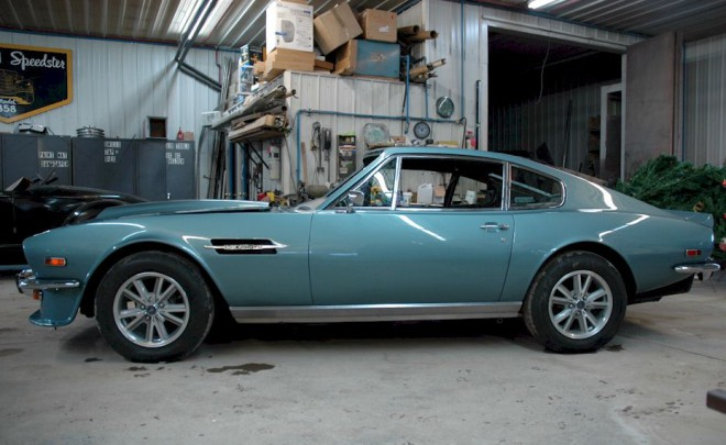 Blue 1976 Aston Martin V8
