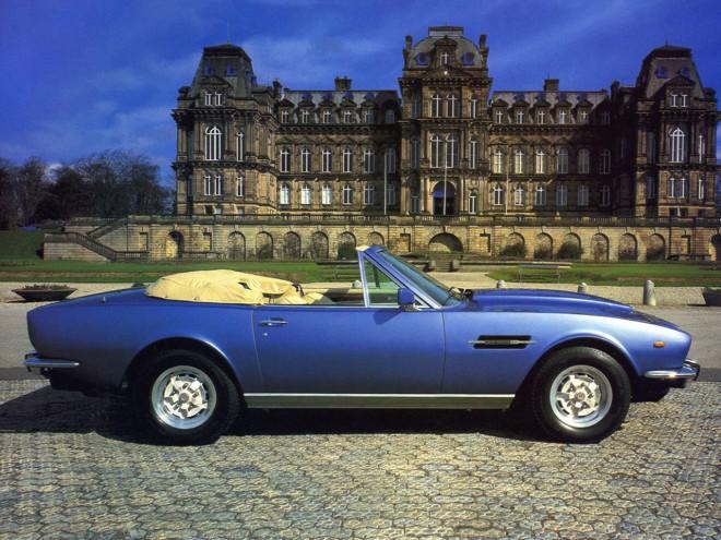 Blue 1978 Aston Martin V8 Volante