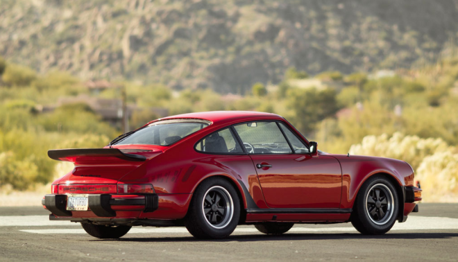 Red 1976 Porsche 911 Turbo