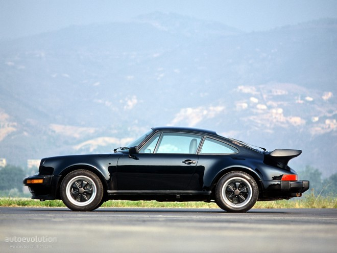 Black 1977 Porsche 911 930 Turbo