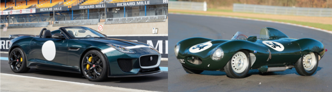 Lease a Jaguar F-Type Project 7 and D-Type