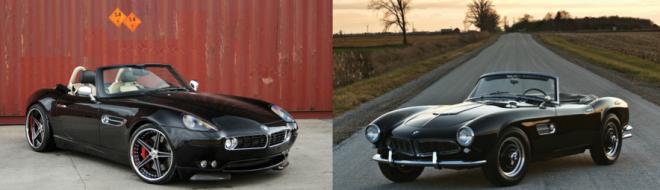Black BMW 507 and Black BMW Z8
