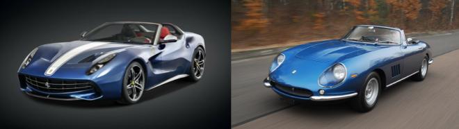 Compare  a Ferrari 275 GTB 4 NART Spyder to a Ferrari F60 America and lease