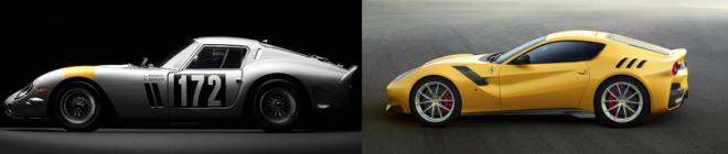 2016 Ferrari f12 TDF and Ferrari 250 GTO TDF comparison