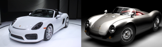 2016 Porsche Boxter Spyder and Porsche 550 Spyder comparison