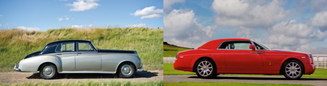 vintage lease: Rolls Royce Silver Cloud or Rolls Royce Phantom Coupe