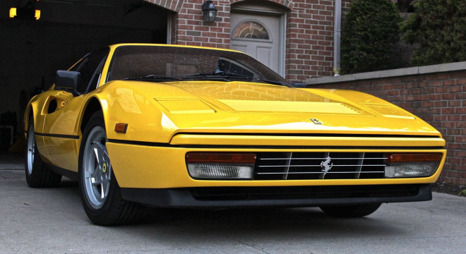 Lease a 1985 Ferrari 328 Yellow Nose