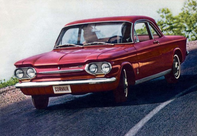 1963 red Chevy Corvair ad leased