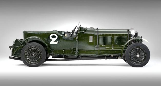 Green 1930 Bentley Speed Six Profile