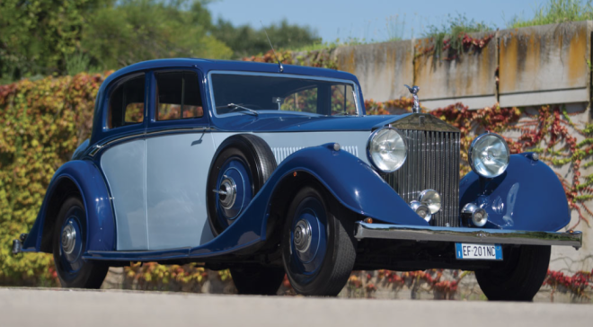 Blue Rolls-Royce Phantom II Saloon Lease