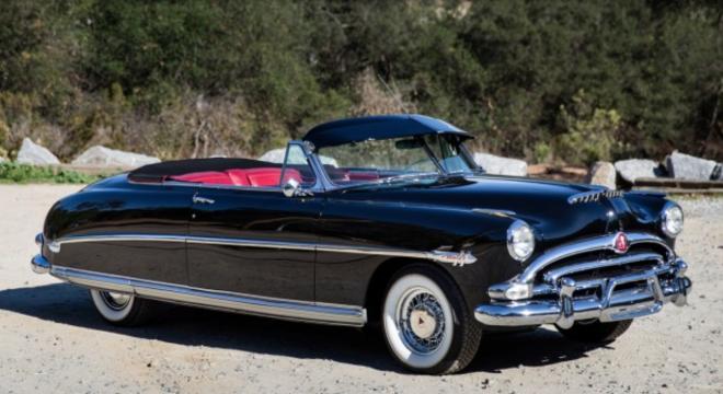 Classic Black 1953 Hudson Hornet Convertible