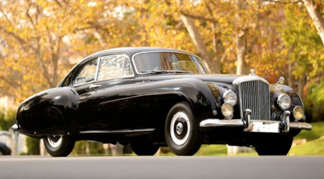 Lease a black 1955 Bentley Type R Fastback