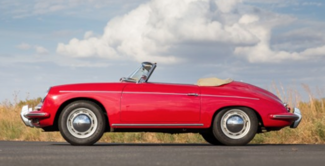 Original Red 1960 Porsche 356 B Roadster
