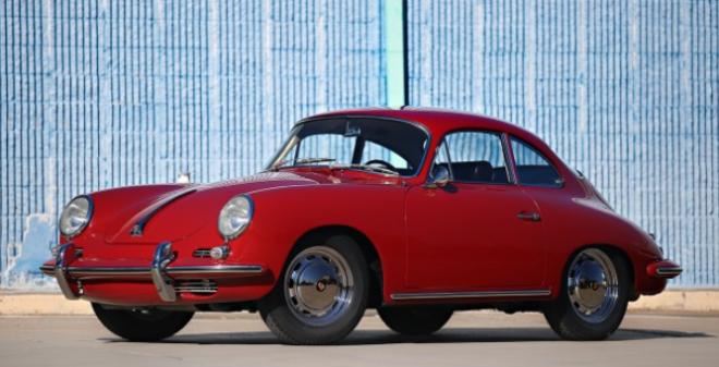 Red 1964 Porsche 356 SC Coupe