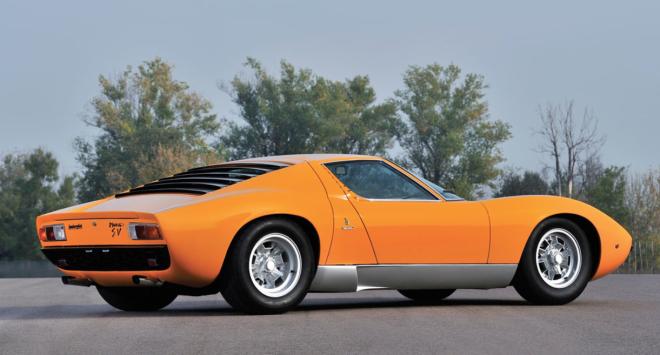 Orange 1972 Lamborghini Miura SV financing