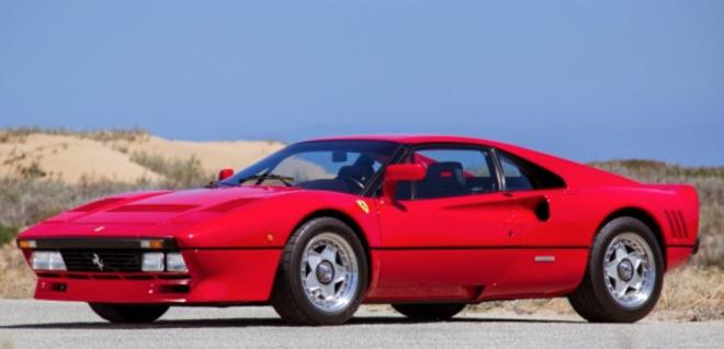 Lease a red 1985 Ferrari 288 GTO