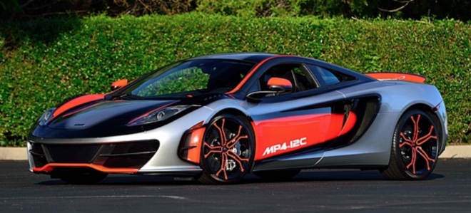 2012 McLaren MP4 12C High Sport with a one-off paintjob