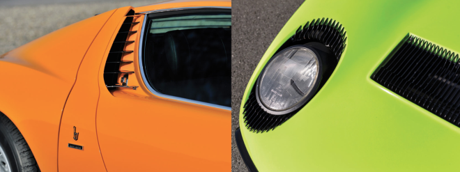 Miura features, eyelashes and side scoop