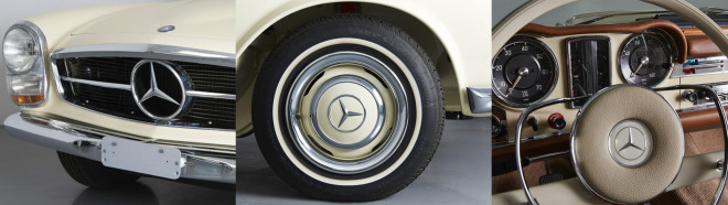 A triptych of 1957 Mercedes 230SL features