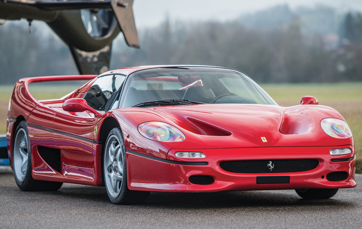 Red 1997 Ferrari F50 at auction