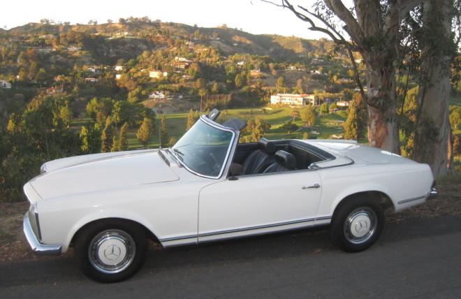 White 1967 Mercedes-Benz 230SL Lease