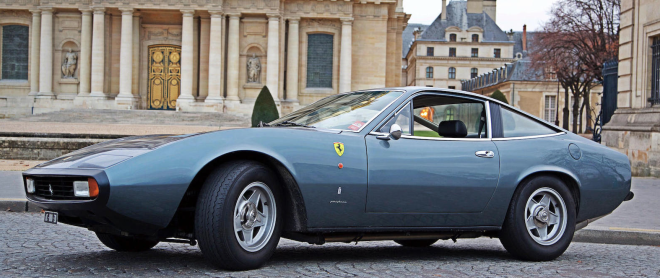 Profile of Blue 1972 Ferrari 365 GTC/4