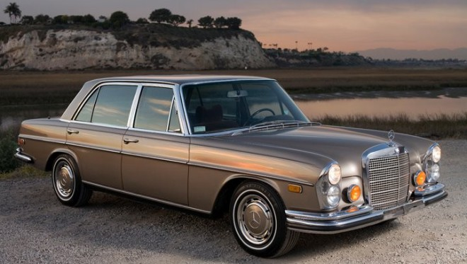 Lease a Gold Mercedes 300 SEL 6.3