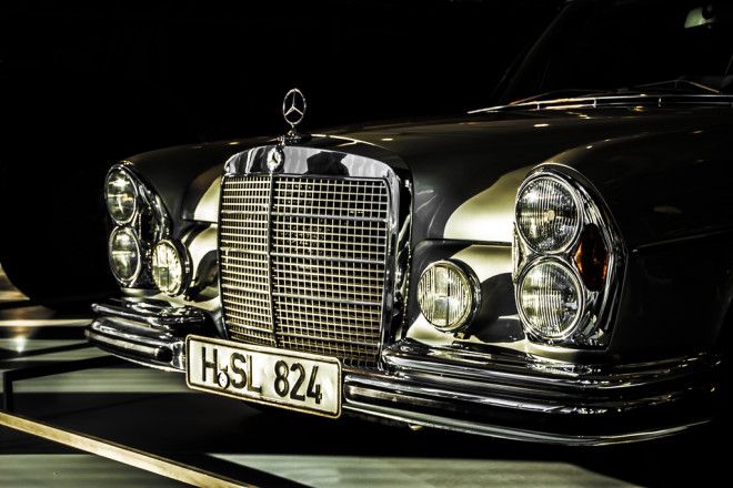 The Front End of a Mercedes 300 SEL 6.3