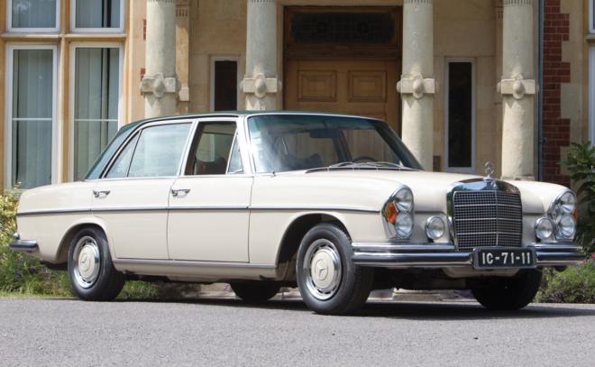 Lease a White Mercedes 300 SEL 6.3