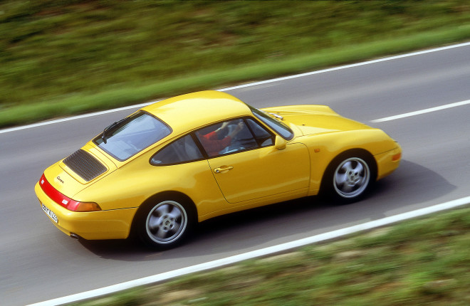 Lease a 1994 Porsche 911 993 in Yellow