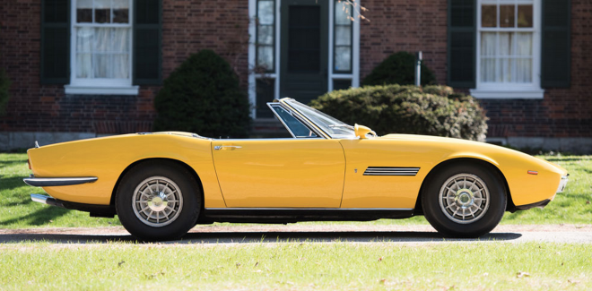 Lease a rare yellow 1968 Maserati Ghibli Spyder Prototype with Premier.