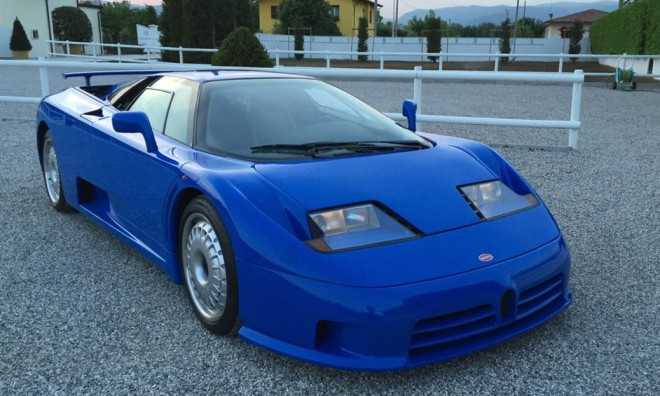 Lease a Blue Bugatti EB110 with Premier.