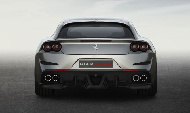 Rear view of a Ferrari GTC4Lusso