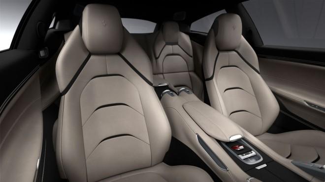 Leather seats of a Ferrari GTC4Lusso