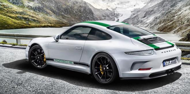 Green Porsche 911 R lease