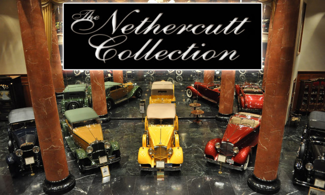 Vintage cars at the Nethercutt Museum