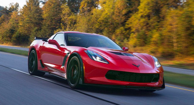 Lease a red 2016 Corvette Z06