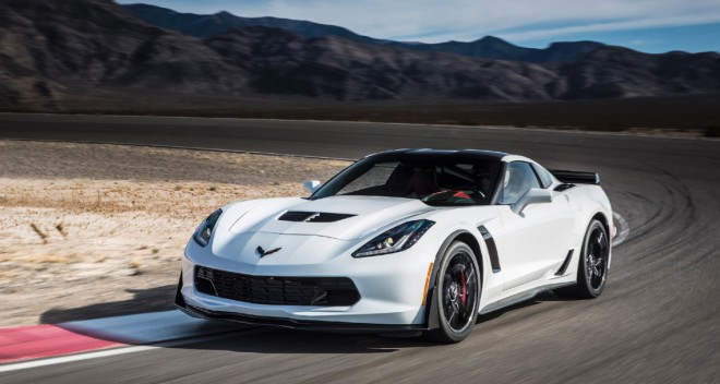 Lease a white Corvette Stingray from Premier