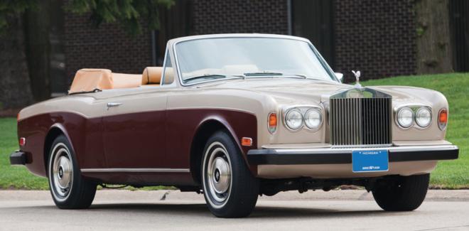 A maroon 1978 Rolls-Royce Corniche financing