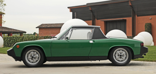 Profile view green Porsche 914 financing