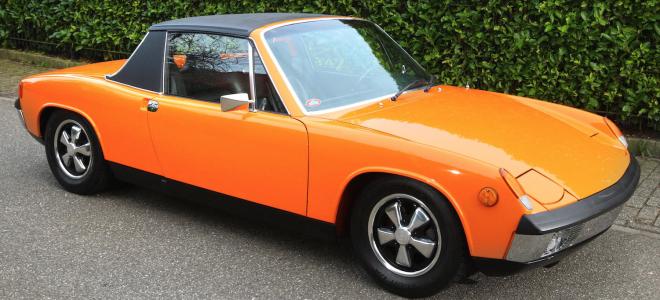 Lease a Front 3/4 Orange Porsche 914
