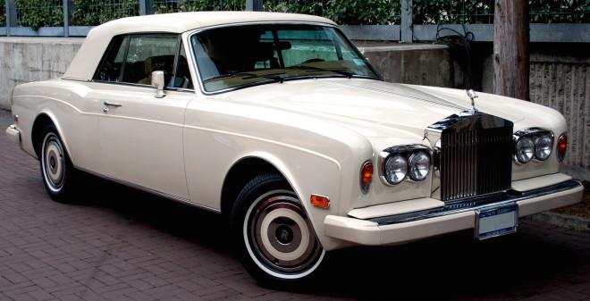 Lease a white Rolls-Royce Corniche with Premier.