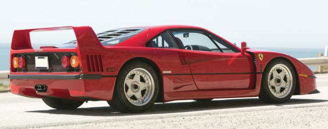 Lease a red 1990 Ferrari F49
