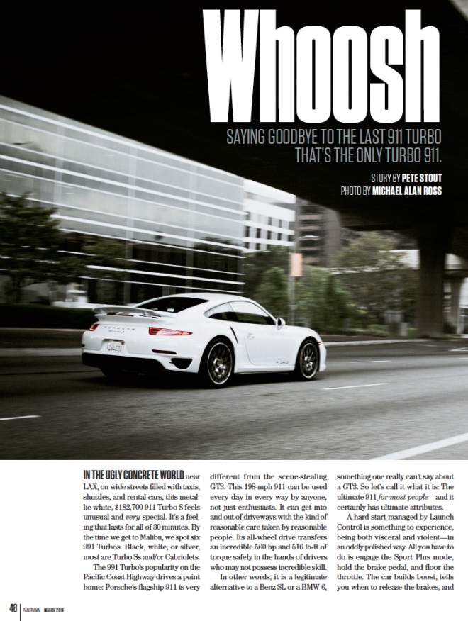 Porsche Panorama article on the Porsche 911 Turbo
