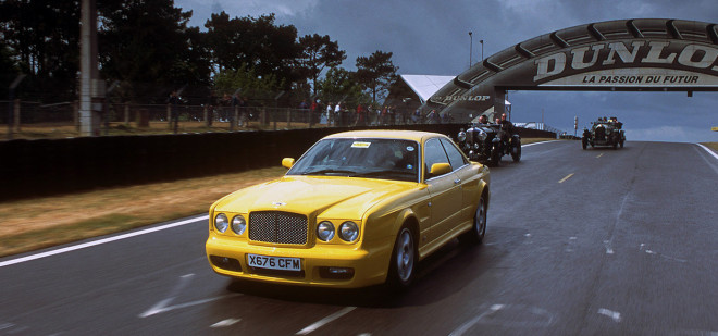 Lease a Yellow Bentley Continental R for the track
