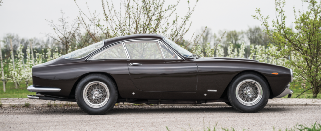 Black Ferrari 250 GT Lusso profile view